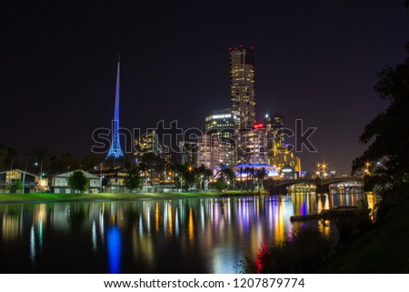 Melbourne, Victoria / Australia - Sep 29 2014: Eureka Tower, the world's tallest residential tower when measured to its highest floor. #1207879774