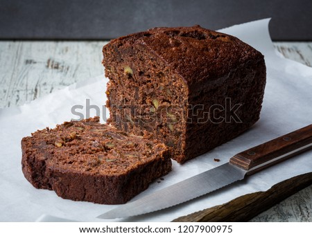 Banana chocolate bread #1207900975