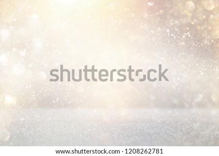 glitter vintage lights background. silver and gold. de-focused #1208262781