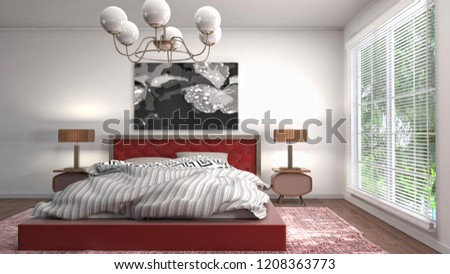 Bedroom interior. 3d illustration #1208363773