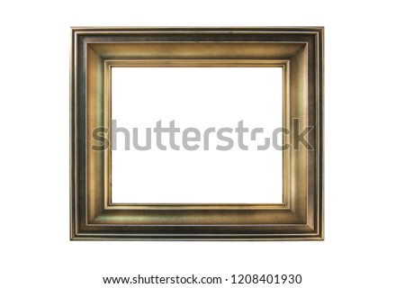 Wooden painted picture frame, isolated on white.