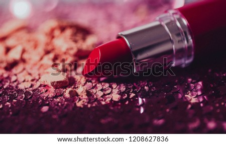 close up of a lipstick on white background with clipping path #1208627836
