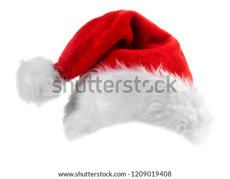Santa Claus red hat isolated on white background #1209019408