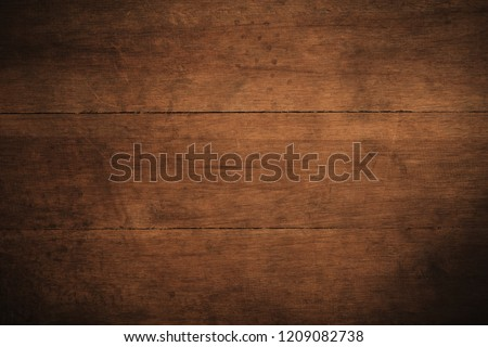 Old grunge dark textured wooden background,The surface of the old brown wood texture,top view brown wood paneling #1209082738