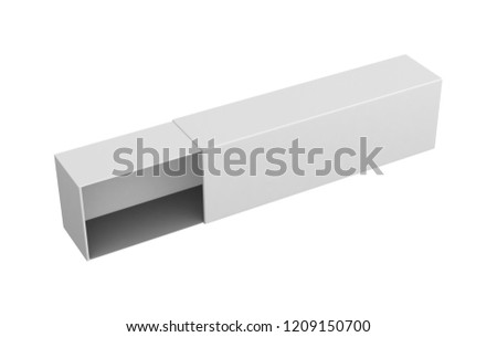 Realistic white blank open box isolated on white background. 3d illustration  #1209150700