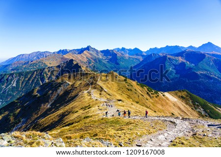 The High Tatras Mountains (Vysoké Tatry, Tatry Wysokie, Magas-Tátra), are a mountain range along the border of Slovakia in the Prešov Region, and southern Poland in the Lesser Poland Voivodeship. #1209167008