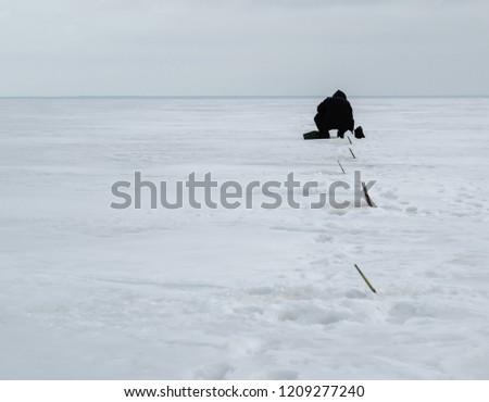 Winter sea fishing #1209277240