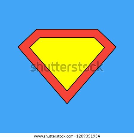 Superhero icon. Superman logo template. Superman vector icon. Vector illustration