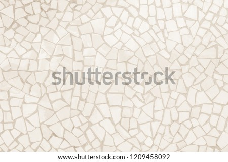 Broken tiles mosaic seamless pattern. Cream and Brown the tile wall high resolution real photo or brick seamless and texture interior background. #1209458092