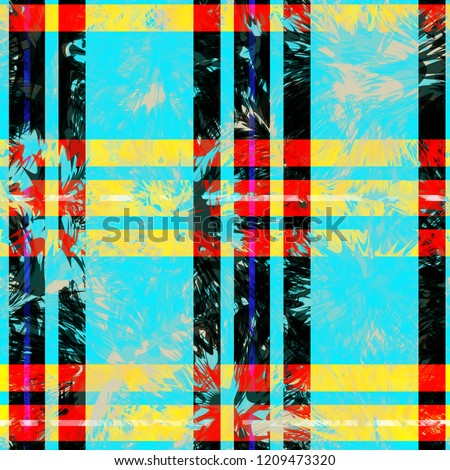 Colored plaid seamless texture. Abstract vector background for web page, banners backdrop, fabric, home decor, wrapping #1209473320
