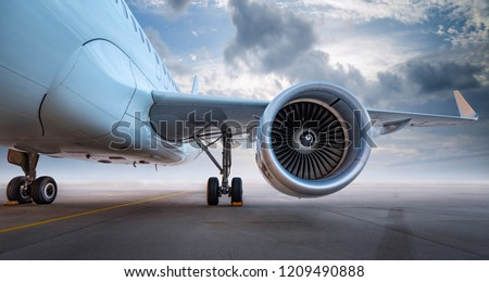 modern aircraft of an airfield Royalty-Free Stock Photo #1209490888