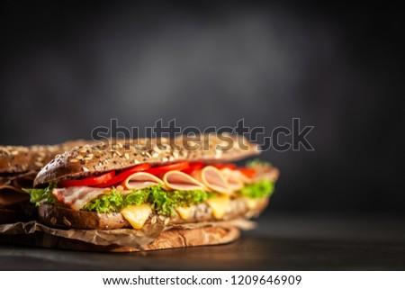 Classic BLT sandwiches #1209646909