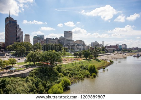 Downtown Memphis in Tennessee, United States