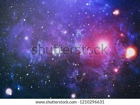 Colorful Starry Night Sky Outer Space background #1210296631