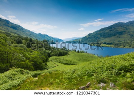 an impression of the West Highland Way Trail, Hiking Trail #1210347301