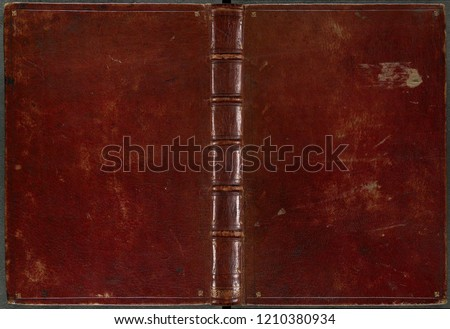 Vintage leather book cover Royalty-Free Stock Photo #1210380934