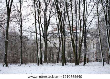 Wiazowna, mazowsze region - December 2005: palace in Wiazowna #1210665640