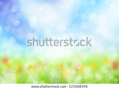 Abstract blur spring background