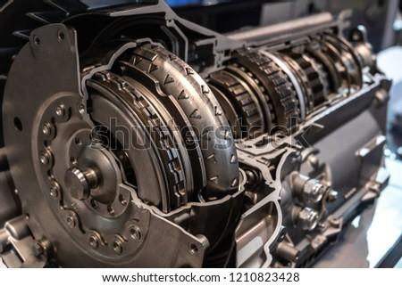 Car automatic transmission cutaway closeup #1210823428