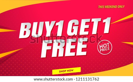 buy get free sale banner template