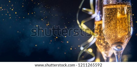 Happy New Year 2019! Christmas and New Year holidays background, winter season.  Royalty-Free Stock Photo #1211265592