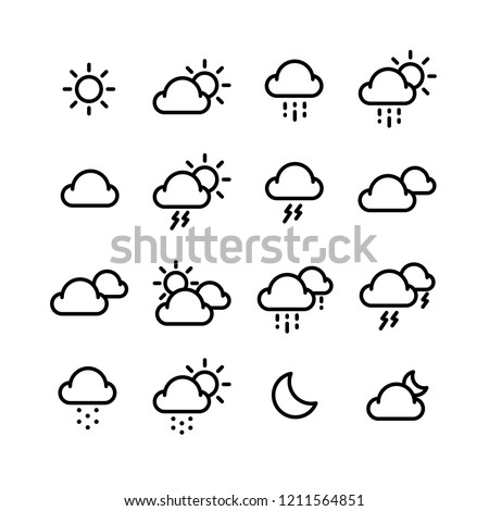 Weather icon set #1211564851
