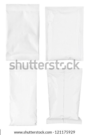 collection of various paper bags on white background. each one is shot separately #121175929