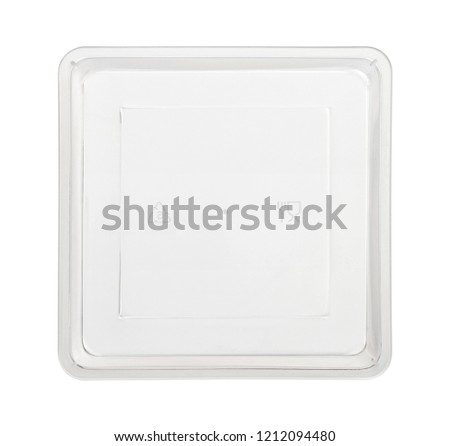 Plastic food box, top view (with clipping path) isolated on white background #1212094480