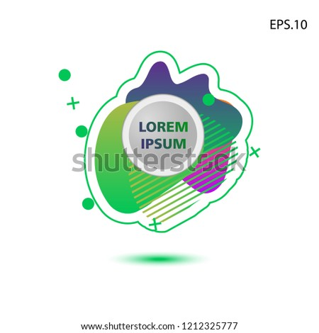 colorful liquid background, with a circle in the middle for text . isolated white. vector.  design background #1212325777