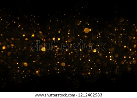 Christmas light background.  Holiday glowing backdrop. Defocused Background With Blinking Stars. Blurred Bokeh. #1212402583