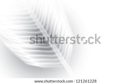 vector glowing leaf #121261228