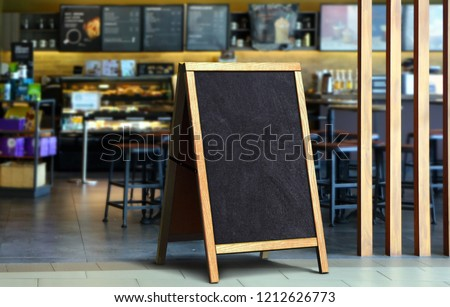 Restaurant sidewalk chalkboard sign board