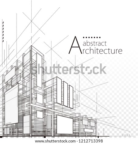 Architecture building construction urban 3D design abstract background.  Royalty-Free Stock Photo #1212713398