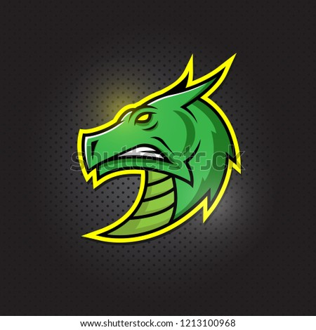 Dragon e-sport logo  design. Vector logotype template. Airsoft squad t-shirt illustration concept
