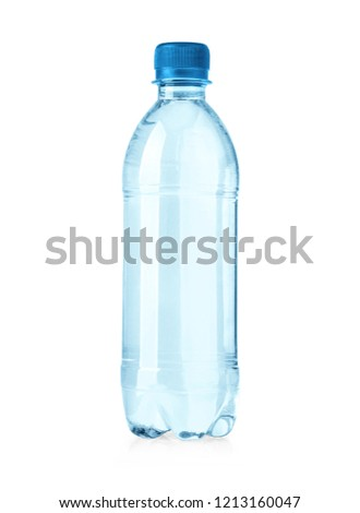 plastic water bottles isolated on white background with clipping path #1213160047
