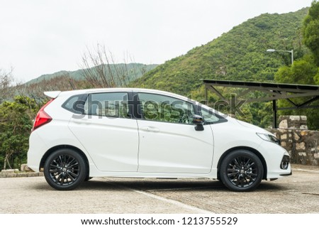 Hong Kong, China Feb 21, 2018 : Honda Jazz RS MT 2018 Test Drive Day feb 21 2018 in Hong Kong. #1213755529