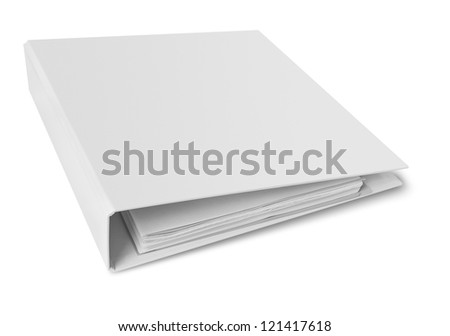 Binder blank file folder Royalty-Free Stock Photo #121417618