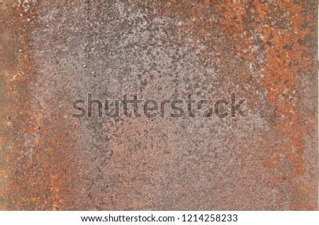 Rusty and smokey textured surface of the old weathered iron plate. Background. #1214258233