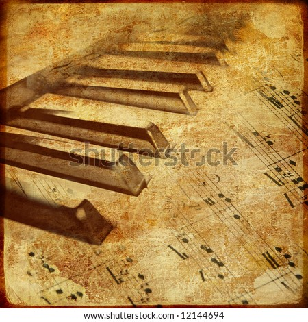 retro musical background