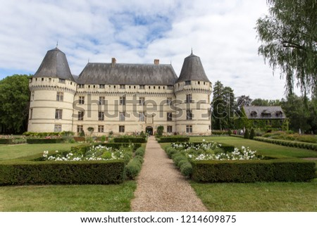 LOIRE VALLEY, FRANCE - AUGUST 11: The chateau de l'Islette, France. This Renaissance castle is located in the Loire Valley on August 11, 2016 #1214609875