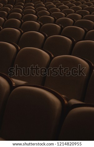Rows of seats in the theater #1214820955