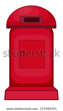 illustration of a mailbox on a white background