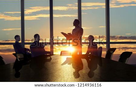 Business teamwork concept. Mixed media #1214936116