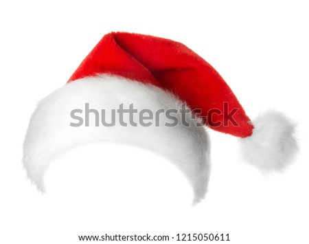 Santa Claus red hat isolated on white background #1215050611