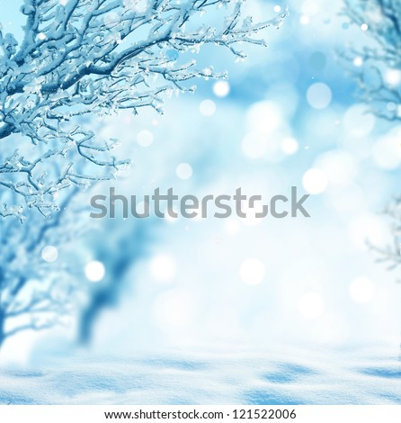winter background Royalty-Free Stock Photo #121522006