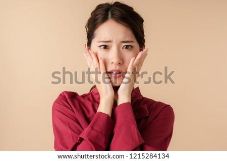 Worrying young asian girl. #1215284134
