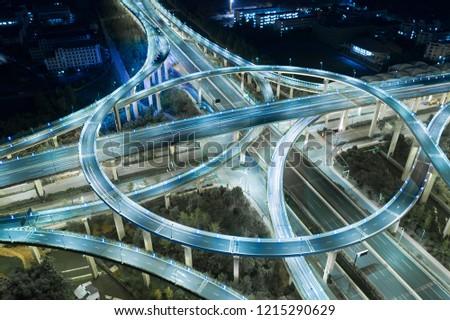 Highway transportation system highway interchange  #1215290629