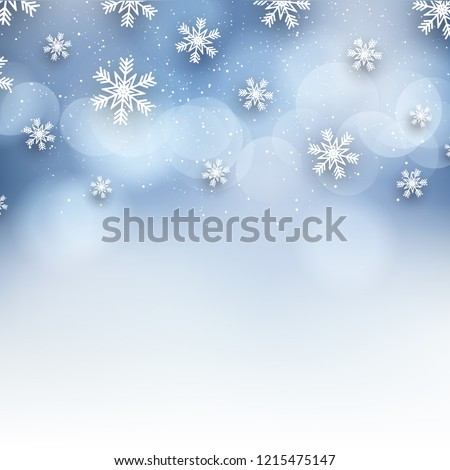 Christmas background with decorative snowflake design #1215475147