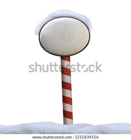 north pole shield christmas snow winter isolated