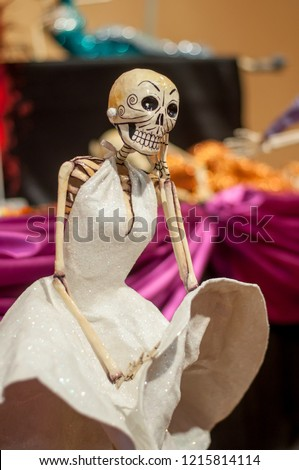 catrina calavera day of the dead with cigar mexico marilyn monroe